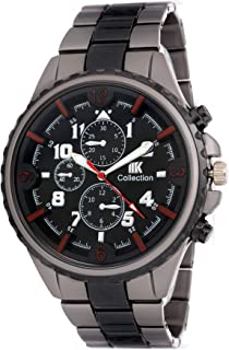 IIk Collection Black Dial Men's Watch Stainless Steel with Analogue (IIK-023M)