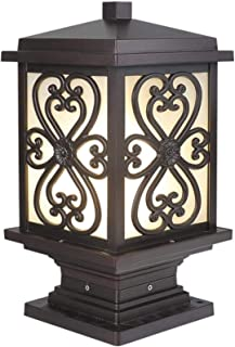 Die-cast Glass Column Light Super Bright E27 Electricity Courtyard Post Pillar Lamp IP65 Rainproof Garden Patio Landscape ...