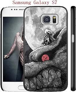 Samsung Galaxy S7 Case, Anime Naruto 11 Drop Protection Never Fade Anti Slip Scratchproof Black Hard Plastic Case