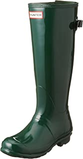 aee9235bcca5 Hunter Womens Original Back Adjustable Gloss Rain Boots