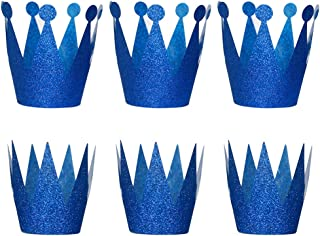 NUOLUX Birthday Crown Hats Party Hats Princess Prince Crowns for Kids,6PCS