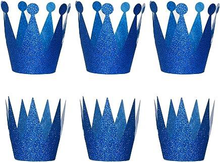 TOYMYTOY Geburtstag Krone Hüte Prinz Prinzessin Party Hüte Kronen Hut Kinder und Erwachsene Party Dekorationen 6pcs