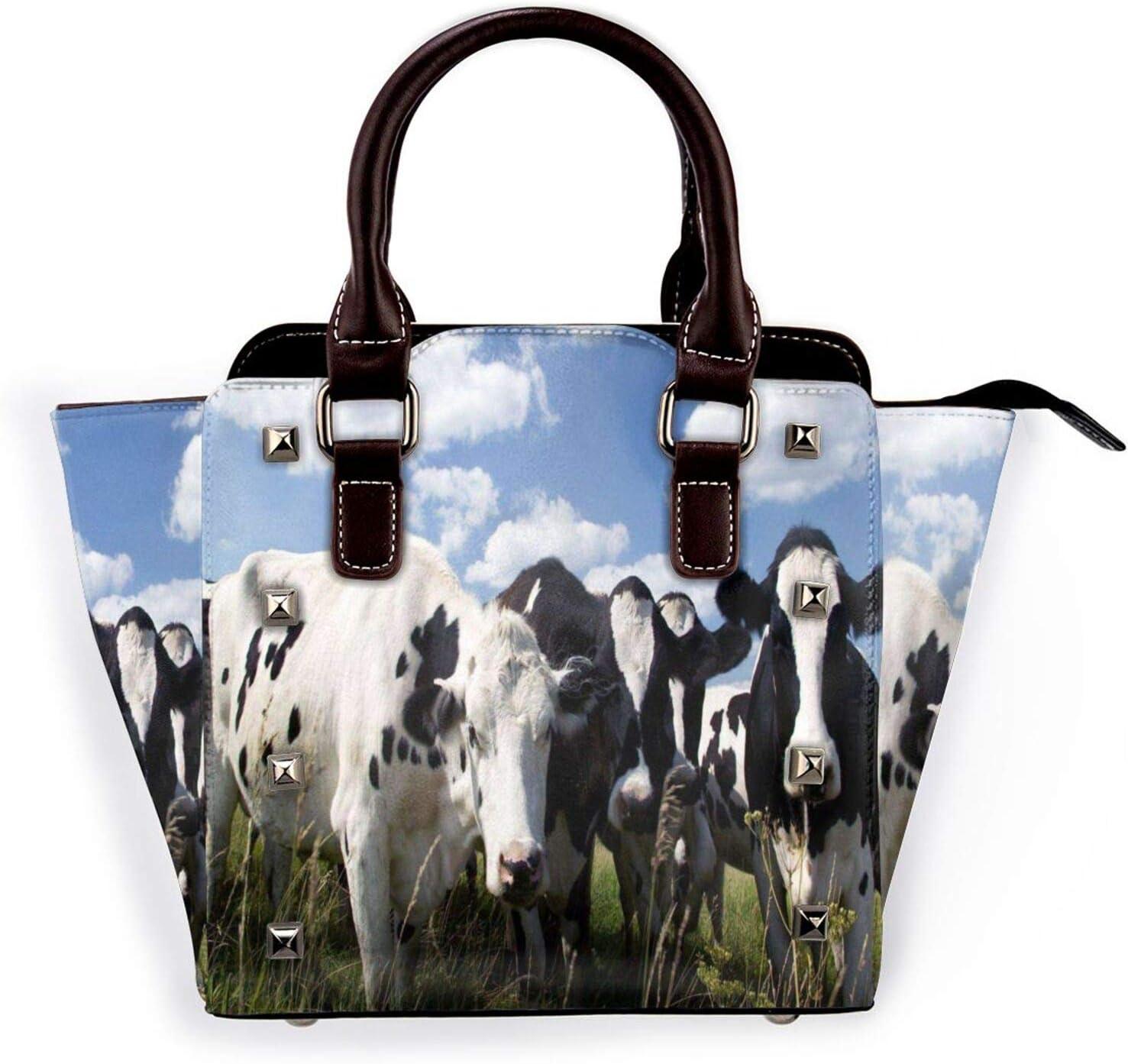 Tote Bag Farm Cows Blue Sky Handbags Max Now on sale 66% OFF Space Large Shoulder Ri