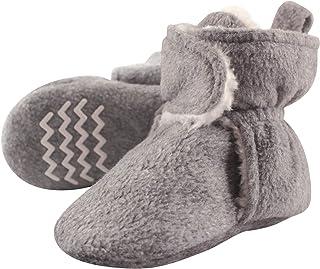 Hudson Baby Unisex Baby Cozy Fleece and Sherpa Booties