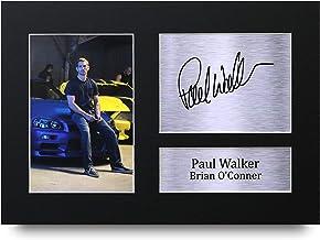 HWC Trading Paul Walker A4 Sin Marco Regalo De Visualización De Fotos De Impresión De Imagen Impresa Autógrafo Firmado por Brian O'Conner Fast & Furious Los Aficionados Al Cine