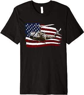 UH-1 UH1 Huey Helicopter T shirt American Flag usa Premium T-Shirt