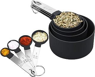 SNUNGPHIR Ensembles de cuillères doseuses, Lot de Tasses et cuillères à mesurer pour Cuisine Cuisson Cuisson Ingrédients L...