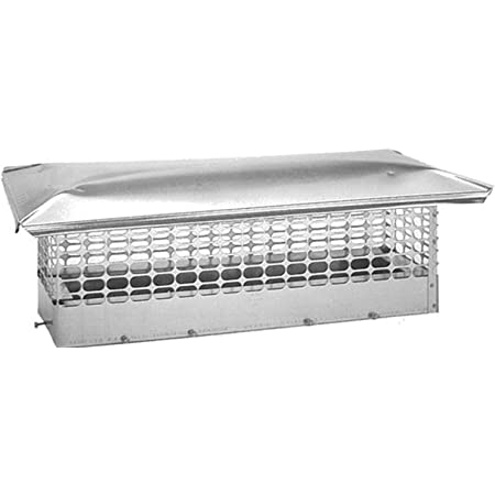1-Pack The Forever Cap CCSC1719 17 x 19-Inch Multi Flue Stainless Steel Crown Mount Chimney Cap