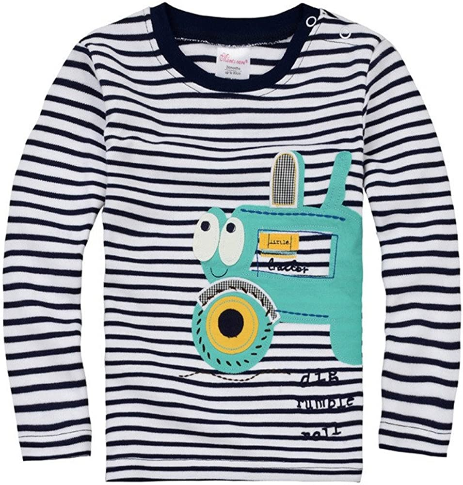 CuteOn Toddler Little Boy Long Sleeved T-Shirt Top 18m-4y - Asorted