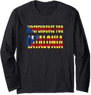 Estelada Blava Flag   Independence for Catalonia Long Sleeve T-Shirt