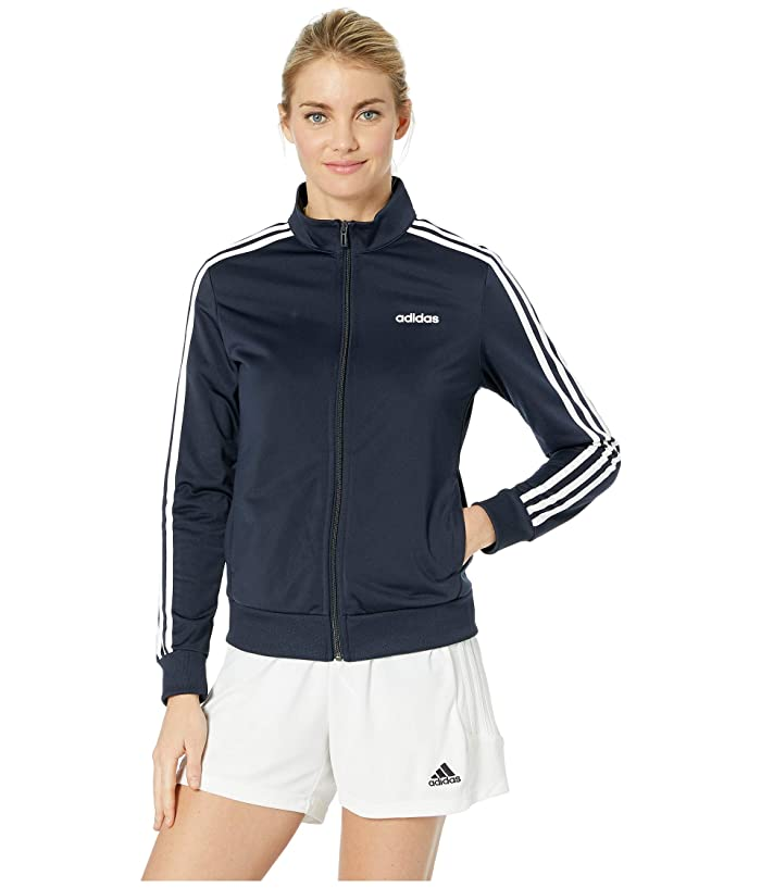 adidas  Essential 3-Stripes Tricot Jacket (Legend Ink/White) Womens Coat