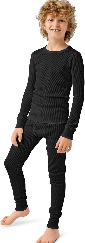 Hanes Boys Thermal X-Temp Underwear Set Black XL