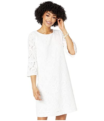 Lilly Pulitzer Ophelia Dress (Resort White Wildflower Stripe Lace) Women