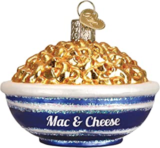 Old World Christmas Glass Blown Ornament with S-Hook and Gift Box, Food Collection (Bowl of Mac & Cheese)