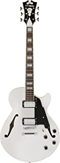 D'Angelico Premier SS Semi-Hollow Electric Guitar w/ Stop-Bar Tailpiece - White