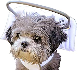 Muffin's Halo Blind Dog Harness Guide Device – Help for Blind Dogs/Visually Impaired Pets to Avoid Accidents & Build Confidence – Ideal Blind Dog Accessory to Navigate Surroundings –White- XX Small