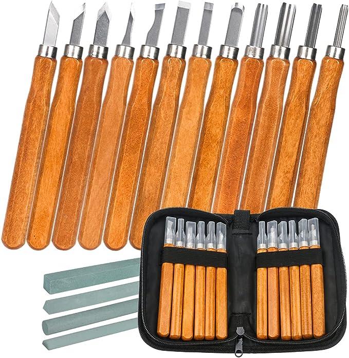 109 opinioni per LICQIC 12 Pcs Kit di strumenti per intaglio del legno, Sgorbie per Legno con