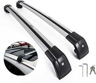 Mophorn Roof Rack Cross Bars Baggage Locking Roof Rail Crossbars Luggage Cargo Ladder Bike Load Roof Cross Bars Black (for BMW, for BMW X1 X3 Sliver)