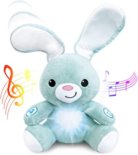 BABYBibi Peekaboo Light Up Interactive Bunny - Soft Stuffed Animal Toy is 13 inches Tall - for Ages 6 Months and Up