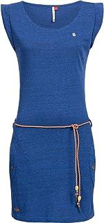 Ragwear Damen Baumwoll Jersey Kleid Tag 10 Farben XS-XL