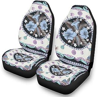 Tridge Copertine per sedili Anteriori con verniciatura a Foglie incantevoli Coprisedili per Auto Coprisedili per sedili Anteriori Solo universali per riflettori UV e Termici per Auto