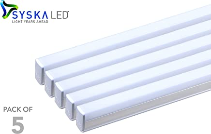 Syska SSK-T5-22W-N-6500K-5 22-Watt LED Tubelight (Pack of 5, Cool Day Light)