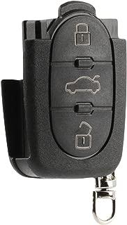Flip Key Fob Keyless Entry Remote Shell Case & Pad fits VW Beetle Cabrio Golf Jetta Passat 1998 1999 2000 2001 (HLO1J0959753F)