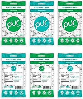 PUR Gum Flavor Assortment Variety Pack (Spearmint & Wintergreen, Pack Of 6)