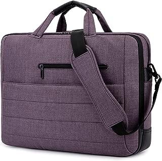 BRINCH 17.3 Inch Nylon Shockproof Carry Laptop Case Messenger Bag for 17-17.3 Inch Laptop/Notebook/MacBook/Ultrabook/Chromebook with Shoulder Strap Handles and Pockets (Dark Purple)