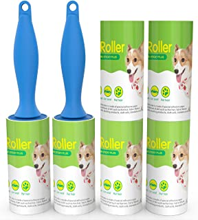 Richenfull Lint Rollers-Hair Remover Rollers 60 Sheets/Roller (360 Sheets/6 Refills) Pet Hair Removal Dust and Dirt Remove, Great for Use on Clothing, Cat, Furniture and More