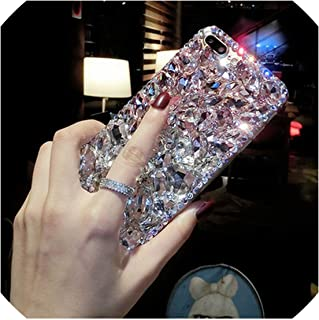 Diamond Case for Samsung Galaxy S8 S9 S10 Plus Note 8 9 M10 M20 A70 A50 A30 Bling Stone Cover for iPhone XR XS Max X 8 7 6S Plus,I,for Galaxy A50