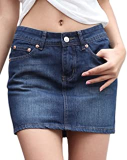 Women's Casual Short Denim Skirt