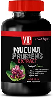 Mood and Anxiety Supplements - MUCUNA PRURIENS Extract 350 MG - mucuna pruriens Supplement - 1 Bottle 60 Capsules