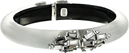 Crystal Baguette Cluster Hinge Bracelet