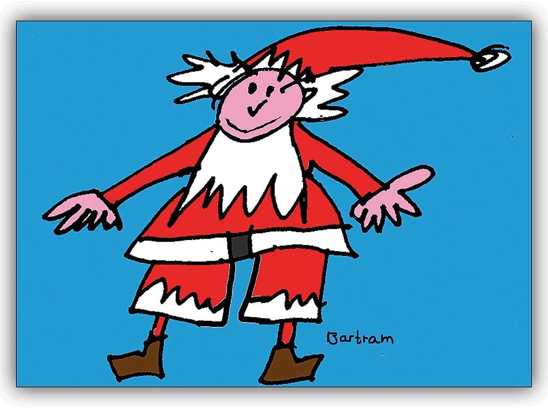 16 Weihnachtskarten (16er Set)  Lustige Weihnachtskarte mit kindlichem Santa Santa Santa Claus B00VRSJDHU   Vorzugspreis  203794