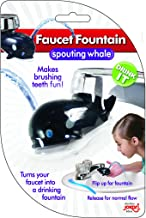 Jokari Faucet Drinking Fountain, Best Kids Water Dispenser, Makes Toothbrush Time Fun for All Ages, One Step Installation Takes Seconds, Saves Mess & Water - Whale (3 Pack)