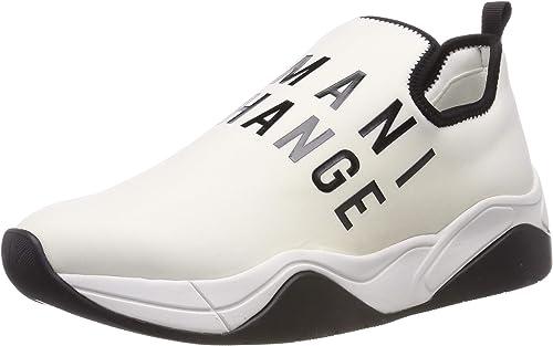 Armani exchange neoprene lace up sneaker, scarpe da ginnastica da donna XDX021XV116