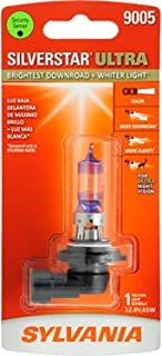 SYLVANIA - 9005 SilverStar Ultra - High Performance Halogen Headlight Bulb, High Beam, Low Beam and Fog Replacement Bulb, Brightest Downroad with Whiter Light, Tri-Band Technology (Contains 1 Bulb)