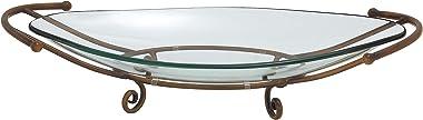 Deco 79 Support en métal pour Bol en Verre Bronze Taille Unique