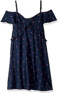 فستان Roxy للفتيات بأكمام مرفرفة بلون الغابة الساطعة