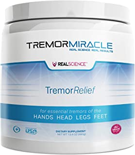 Real Science Nutrition Tremor Miracle - Essential Tremor Herbal Supplement Powder for Hands, Legs, Feet, Head Tremors (13.4 Oz, Grape Flavor)