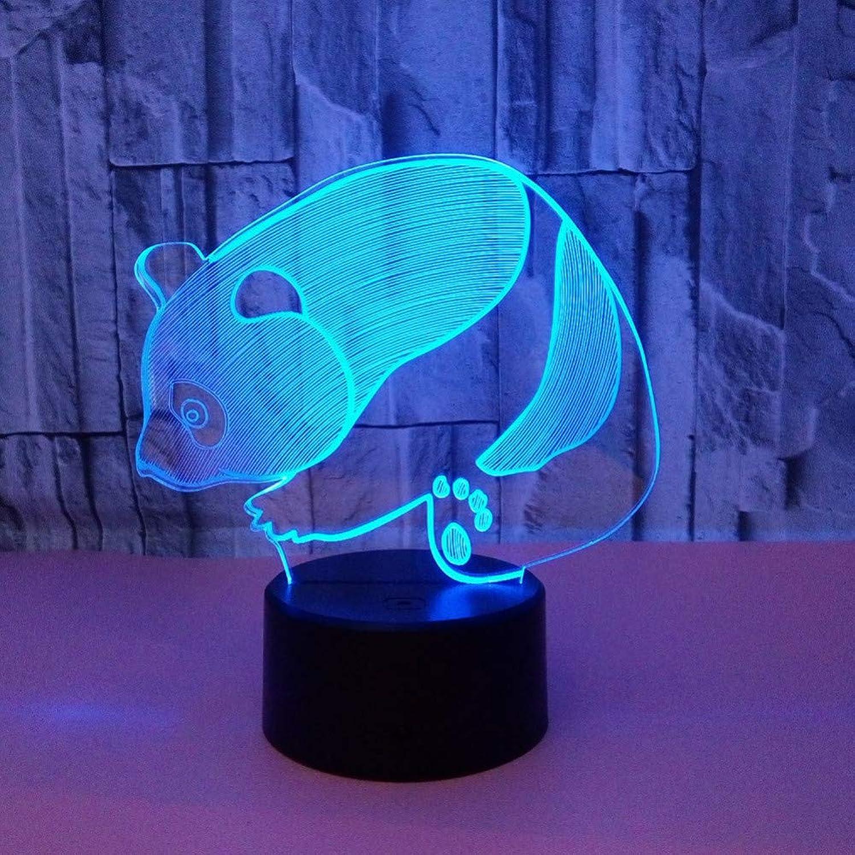 Zyue Schne Panda 3D nachtlicht Bunte Fernbedienung switt USB tischlampe Baby Tier Sleepin Lampe Geschenk für Kinder Geschenk,Blautooth-Lautsprecher