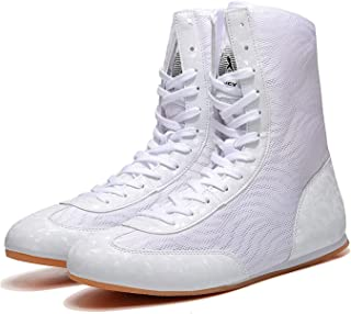High Top Kickboxing Shoes, Unisex Boxing Shoe Lightweight Wrestling Boots Non-Slip Wrestling Boots for Adults Junior Youth