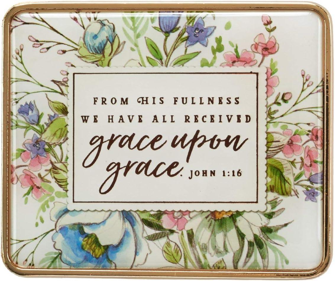 Christian Art Ranking TOP3 Gifts Visor Clip: Grace Upon Gr 1:16 1 year warranty John -