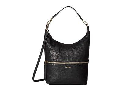 Calvin Klein Elaine Bubble Lamb Novelty Hobo (Black) Hobo Handbags