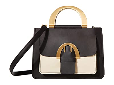 ZAC Zac Posen Biba Buckle Small Shopper Color Block (Black) Handbags