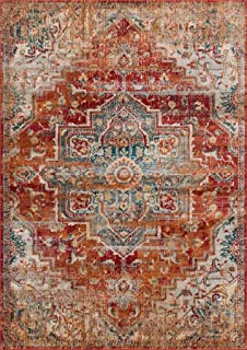 Luxe Weavers Red 9x12 Oriental Area Rug