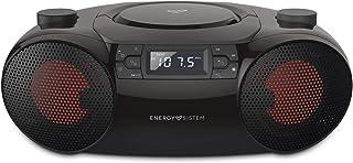 Energy Sistem Boombox 6 (Portable Bluetooth Speaker, CD Player, 12 W, LED lights, USB&SD MP3 player, FM Radio)
