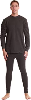 Double Layer Thermal Underwear Set for Men Heavy Weight Long Johns
