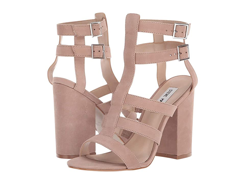Steve Madden Francine Heeled Sandal (Blush Nubuck) High Heels